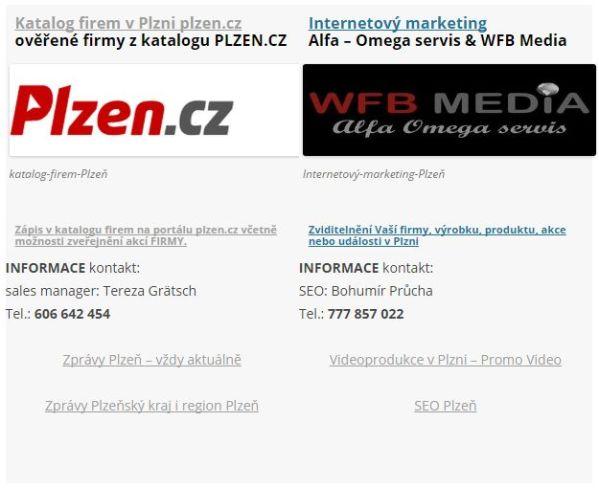 Katalog firem: Internetový marketing - SEO služby v Plzni