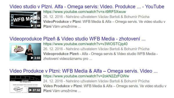 Videoprodukce Plzeň & SEO