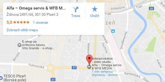 Adresa kanceláře