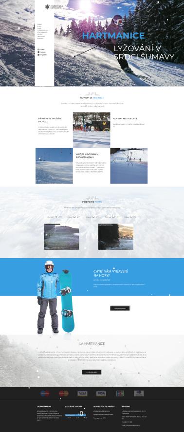 Lyžařský areál La-Hartmanice - Tvorba webových stránek WordPress